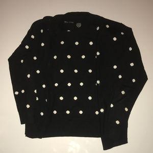 Evelyn & Arthur Black Polka Dot Sweater White Dots